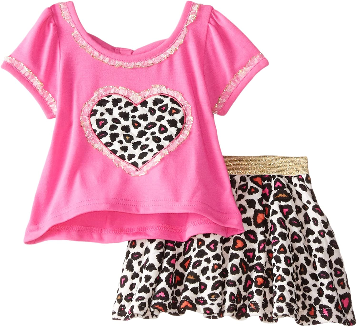 Little Lass Baby Girls 2 Piece Scooter Set Cheetah Print