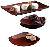 Gibson Overseas, Inc. Soho Lounge Serving Set, 5 Piece, Red