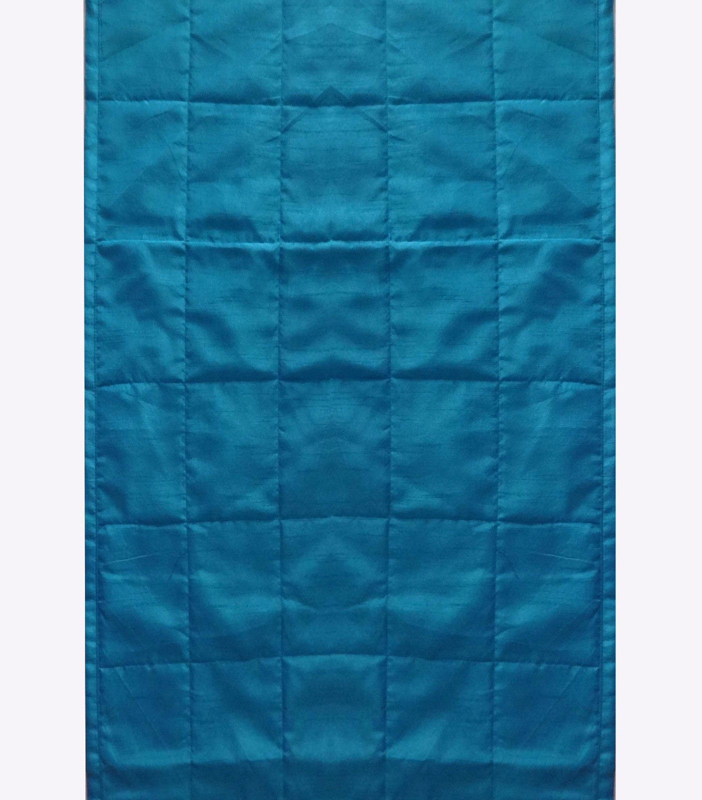 CPEX Long Polyester Silk Blue (Crayola) Bed Runner Handmade Bed Scarf 102'' Wide X 20'' Long For King