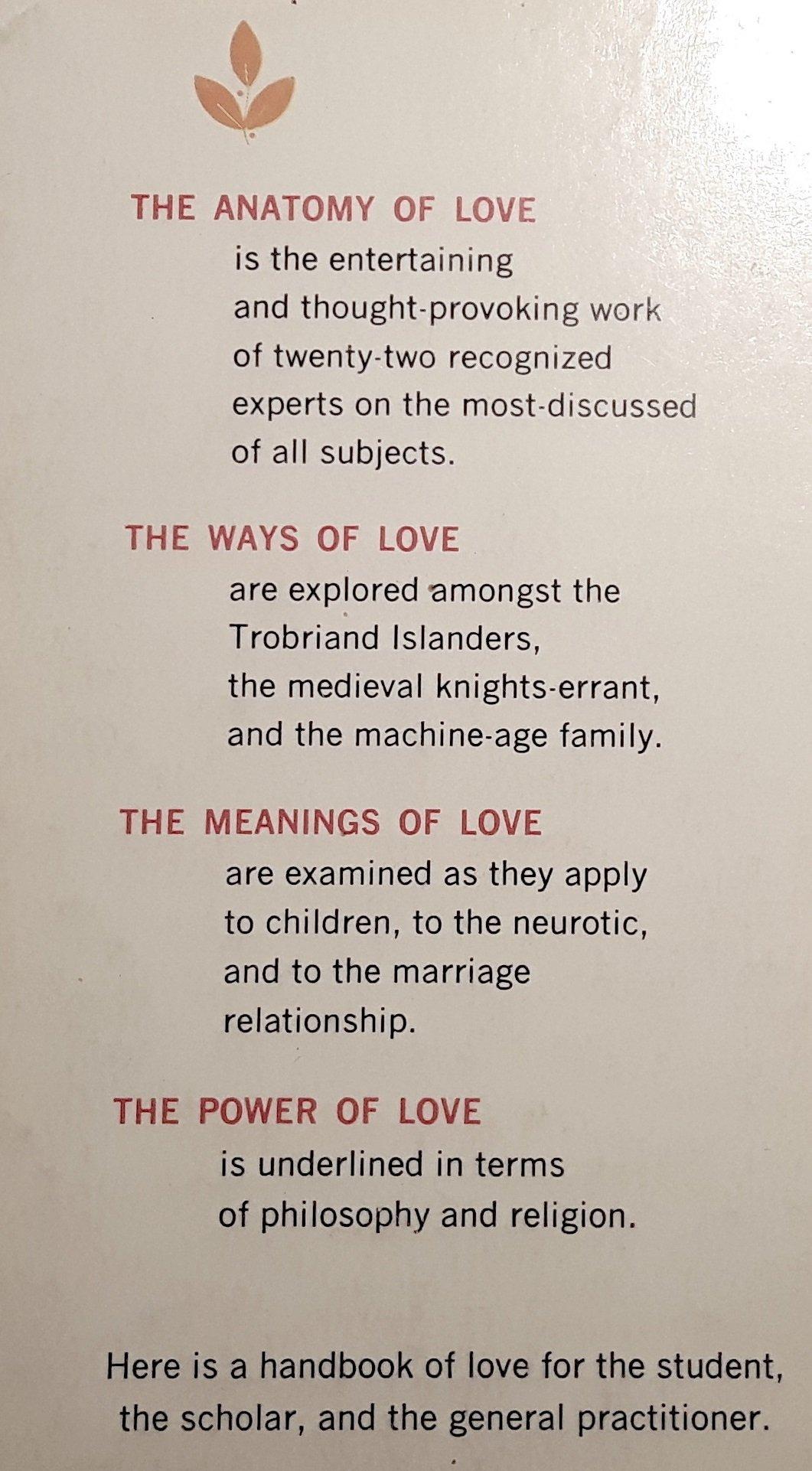 THE ANATOMY OF LOVE: A. M. (editor) Krich: Books - Amazon.ca