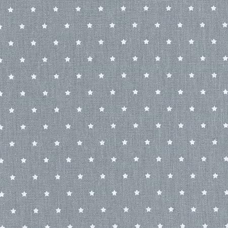 estrellas blancas sobre un fondo azul cielo 100/% algod/ón suave Tela de algod/ón estampada ancho: 160 cm por metro lineal Las peque/ñas estrellas * tela de estrellas