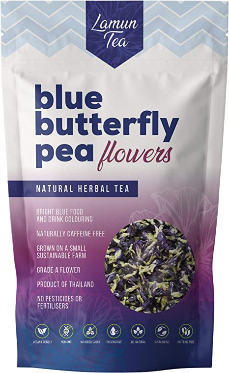 Amazon Com Blue Butterfly Pea Flowers Clitoria Ternatea Anchan Magic Colour Changing Tea 50g 1 8oz Home Kitchen