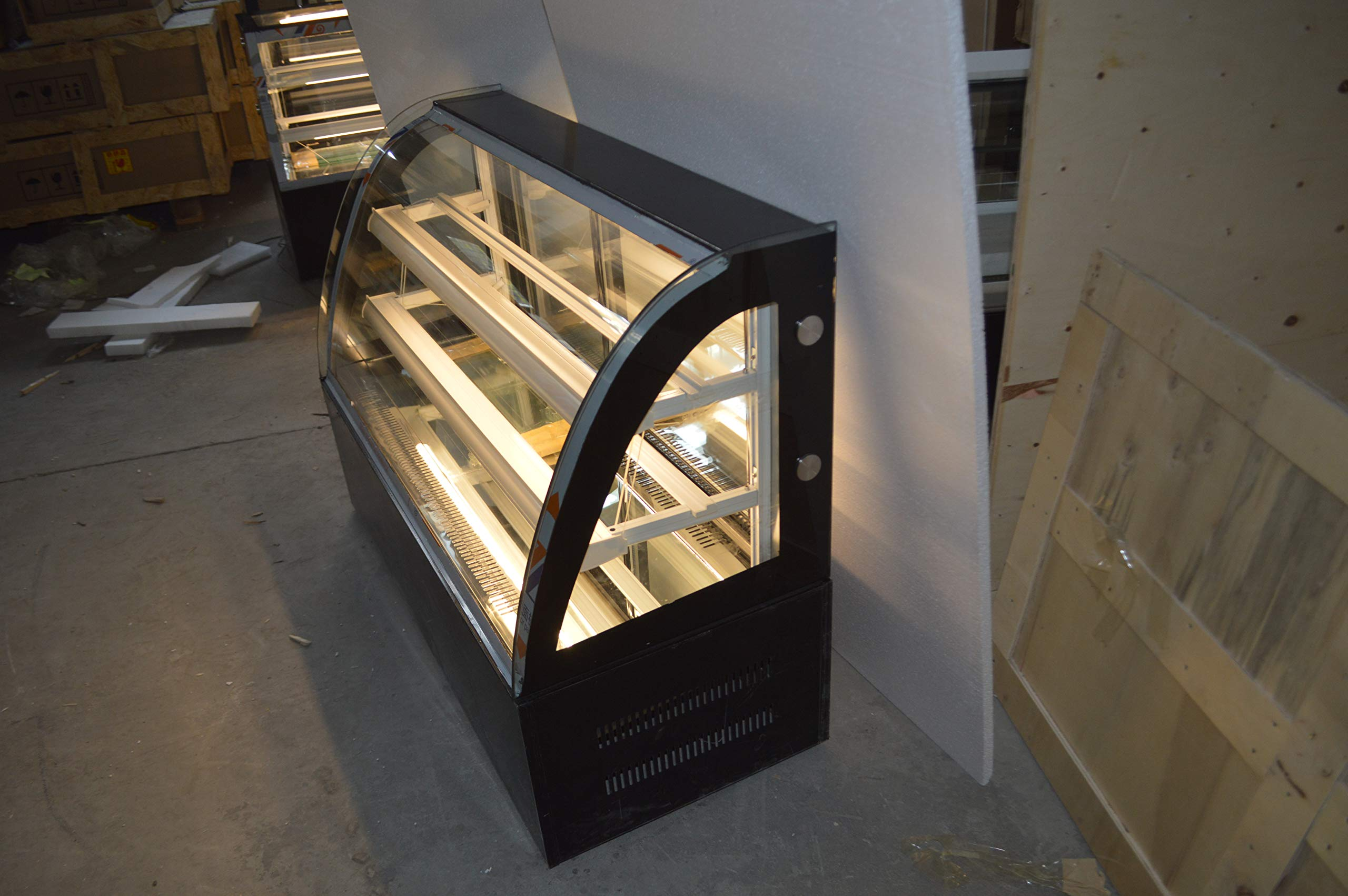 INTBUYING 47'' Countertop Bekery Cabinet Display Case Glass Refrigerated Cake Showcase 220V 315W 36-46F by INTBUYING (Image #6)