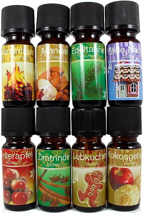8 Botellas Aceites Esenciales Perfumados Concentrados - Ref42 - Fiestas de Invierno - Ideal para usar