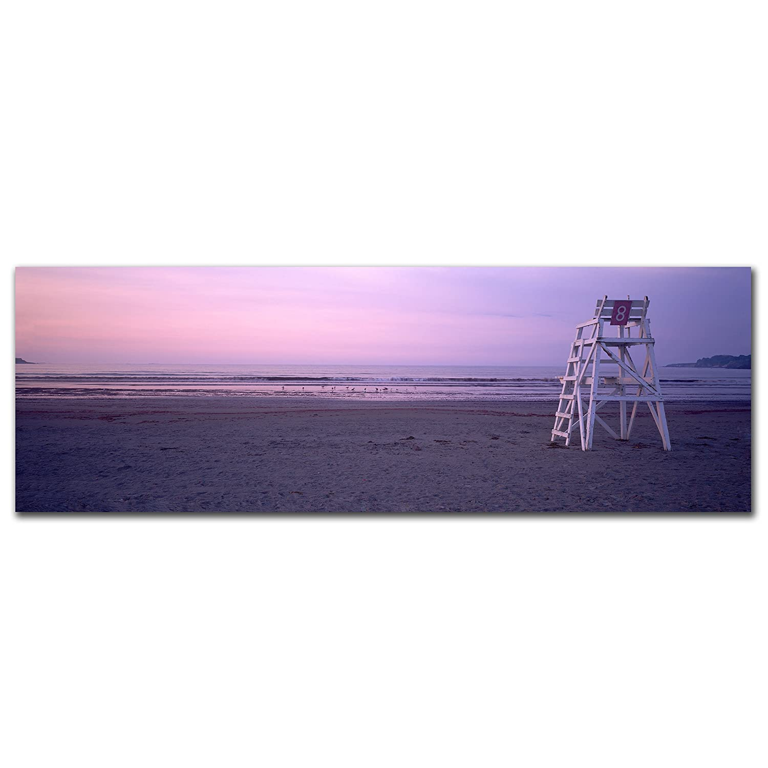 Purple Beach Canvas