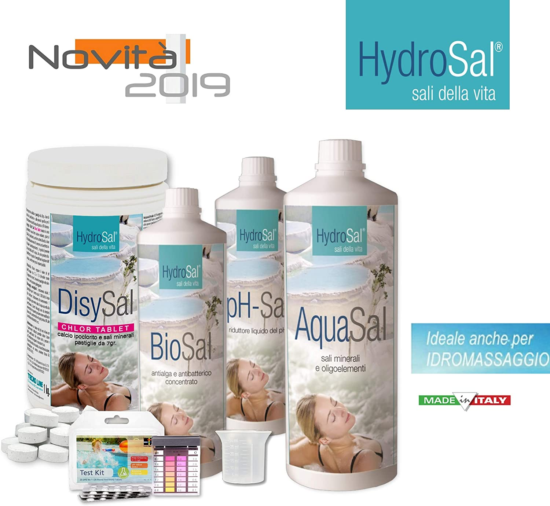 HYDROSAL - Juego de Productos para Agua Termal y fútbol hipoclorito Kit Chlor - Ideal para Piscina e hidromasaje (Teuco, Jacuzzi, Dimhora, Intex,Bestway,ECC.) Envío inmediato.