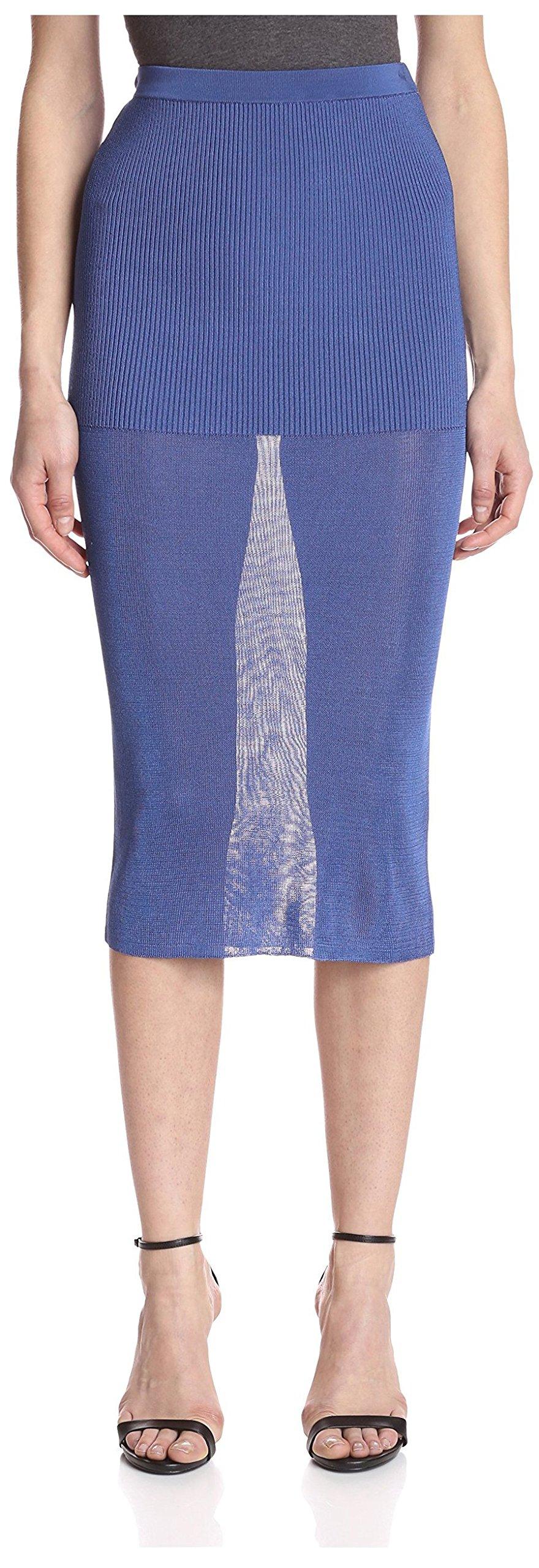 Ronny Kobo Women's Pencil Skirt, Blue, M