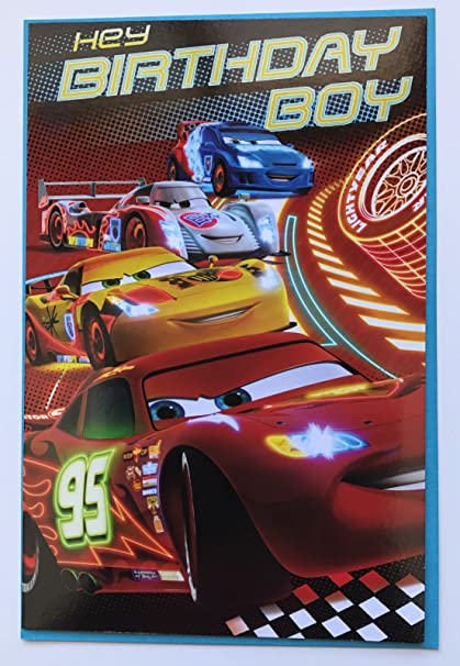 Amazon Disney Pixar Cars 3 Birthday Boy Any Age For Him New Uk