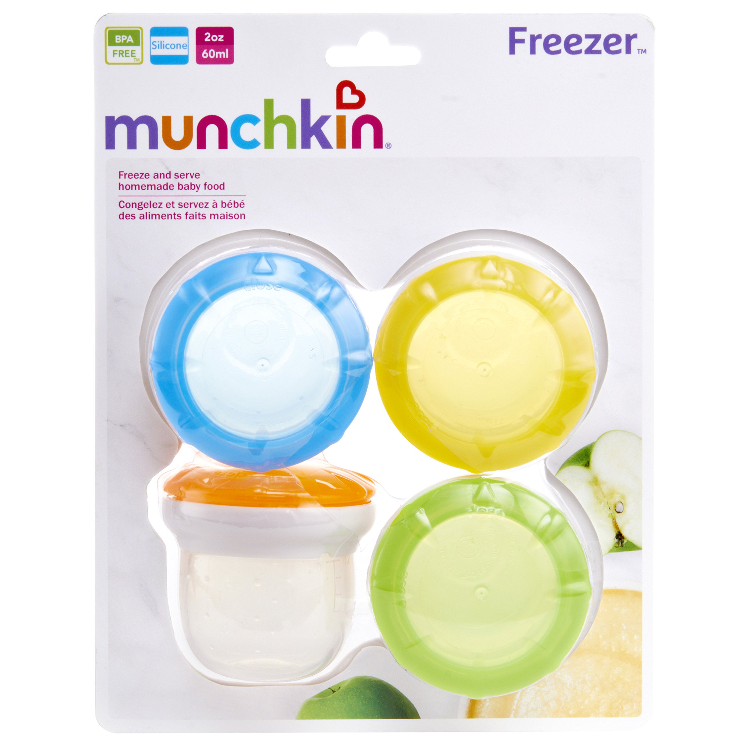 Munchkin 4 Piece Silicone Freezer and Storage Cups by Munchkin (Image #6)