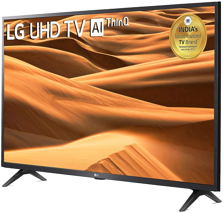4K Ultra HD LG 50-inches Smart LED TV 50UM7290PTD (Ceramic BK + Dark Steel Silver)