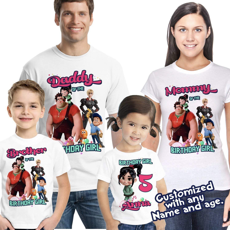 Wreck It Ralph Penelope Custom T-shirt PERSONALIZED Birthday Shirt