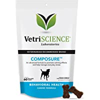 VetriScience Laboratories- Composure, Calming Behavior Support Supplement for Dogs Dealing…