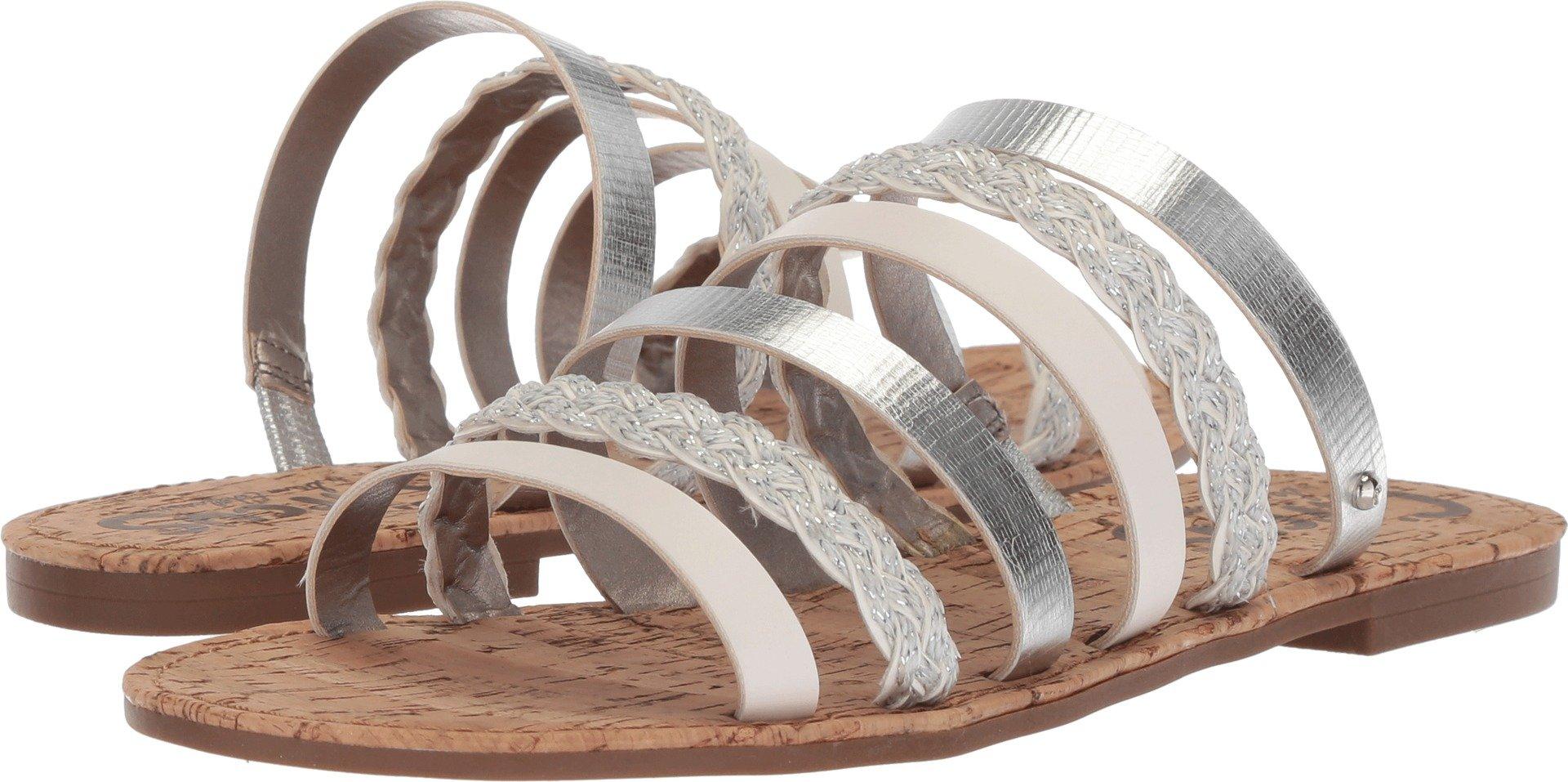 Circus by Sam Edelman Women's Braiden Slide Sandal, Soft Silver/Bright White, 8 M US