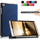 Infiland Huawei MediaPad M2 8.0 タブレット専用保護ケース マグネット 開閉式スタンド カバー 三つ折 超薄型 超軽量 高級PU レザーケース