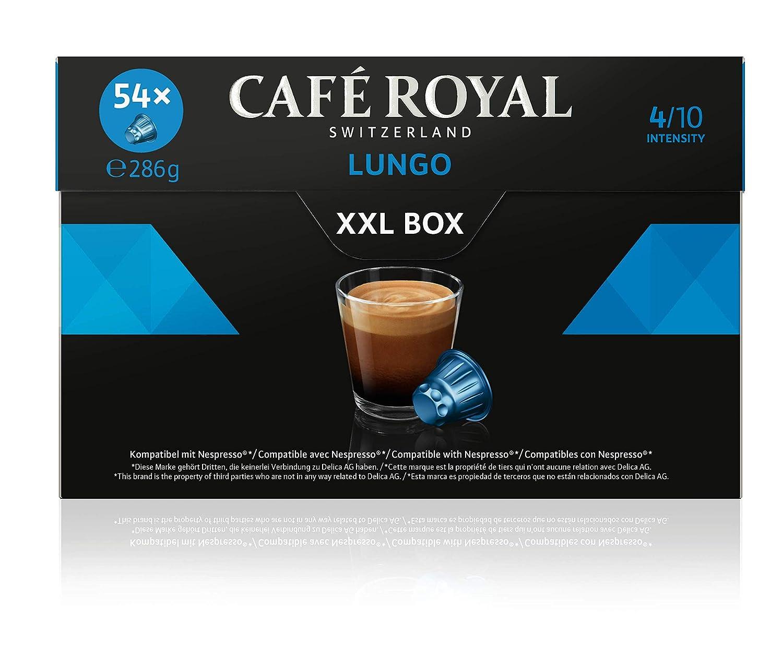 Café Royal Lungo XXL Box 54 Nespresso kompatible Kapseln, Intensität 4/10, 286 g