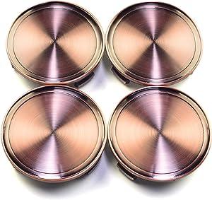 4pcs 75mm(2.95in)/69mm(2.72in) Wheel Hub Center Caps Red Copper Base for M608#2204000125 610C 6010K74 W220-S320 S350