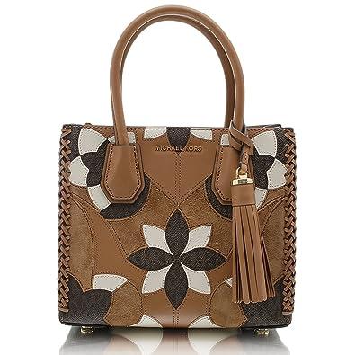 a6cbbb7df33e MICHAEL by Michael Kors Mercer Floral Patchwork Medium Messenger Bag one  size Acorn