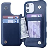Restoo Compatible with iPhone 12/12 Pro Case,Wallet Case with Card Holder PU Leather 4 Card Slot Back Flip Cover for iPhone 1