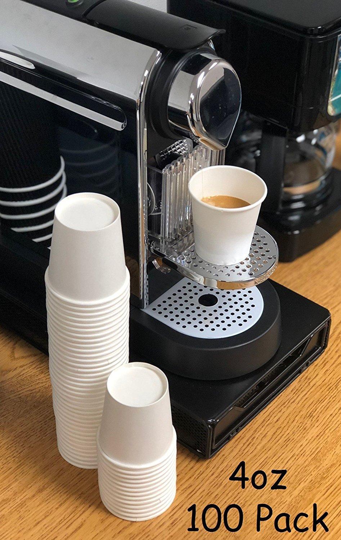 VASO Para Té y Café CARTON De Color Blanco ECOGREEN 4 oz X 100 unds Espresso Shot: Amazon.es: Amazon.es