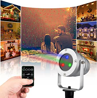 Starry Laser Lights Landscape Projector Lights Outdoor Waterproof Laser Lamp for Outdoor Garden/Yard/Wall Family Gathering Party KTV NIght Club ...