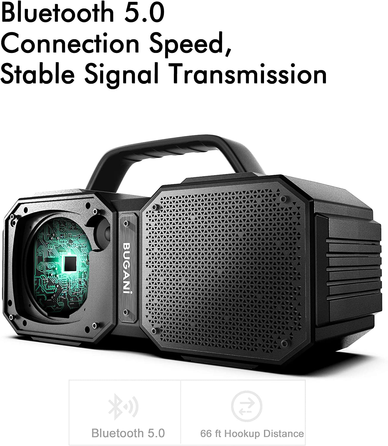 40W Super Power Bluetooth Speakers Rich Woofer Suitable for Family Gatherings and Outdoor Travel. Black Stereo Loud Portable Bluetooth Speakers 5.0