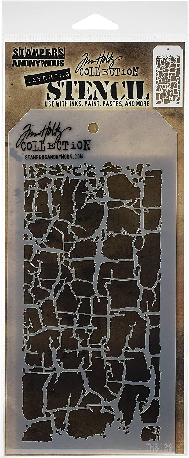 Tim Holtz Stampers Anon THS129 Layered Stencil DECAYED