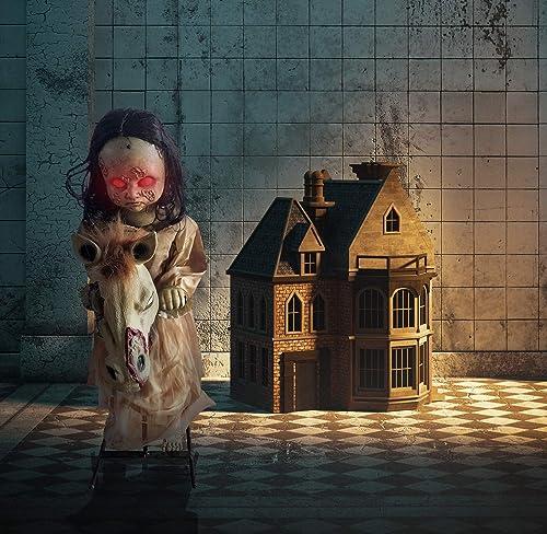 Haunted Hill Farm HHRCKHRS-1FLSA Life-Size Animatronic Rocking Doll