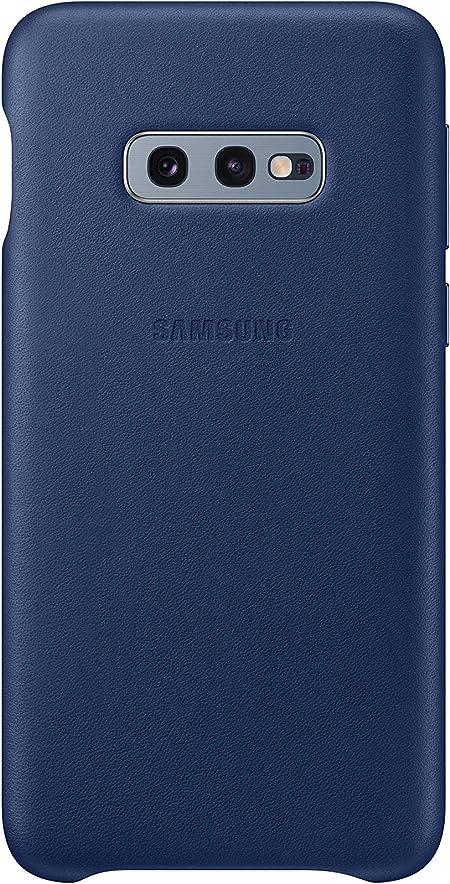 Leather Cover Für Galaxy S10e Marineblau Elektronik