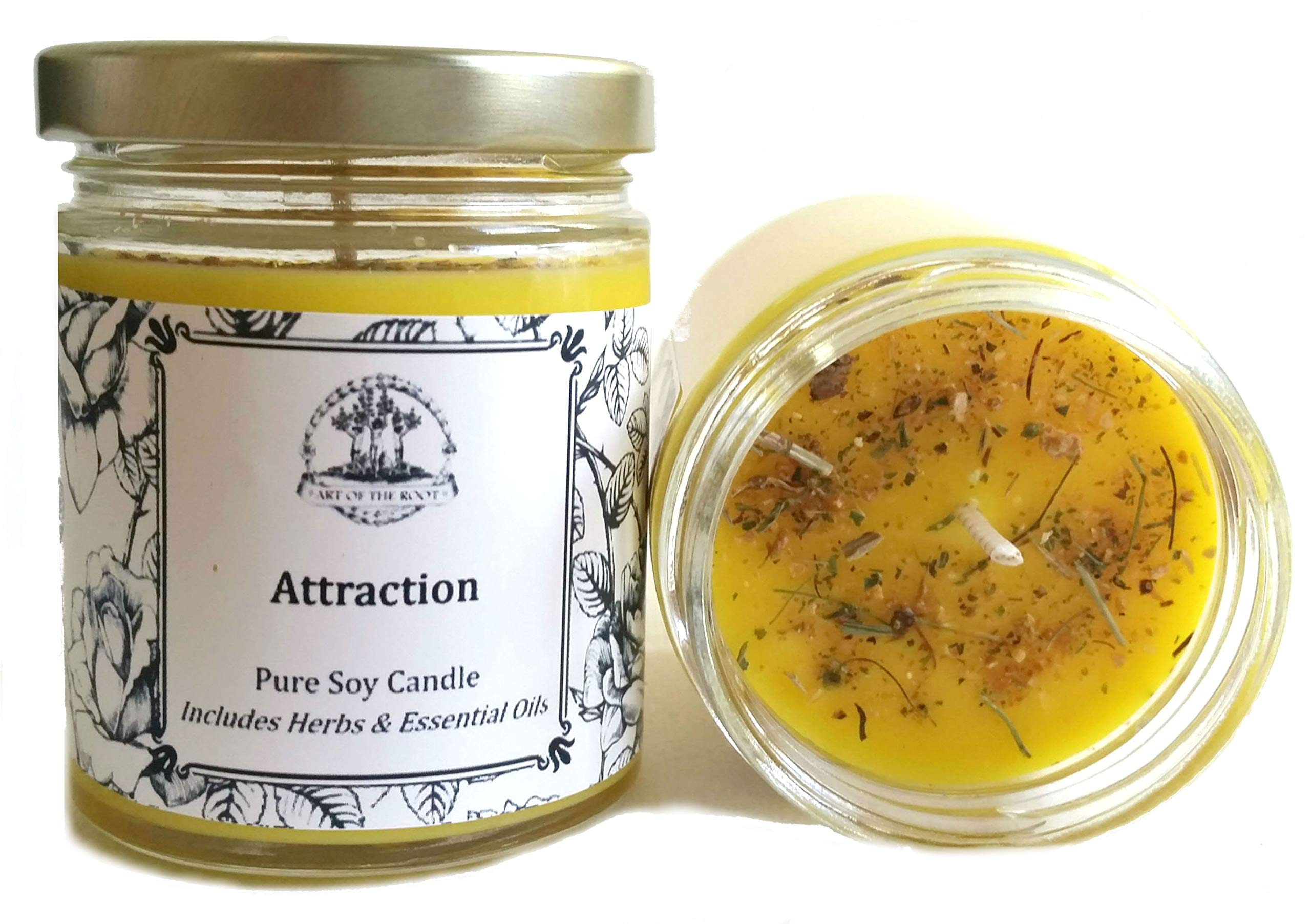 Attraction 8 oz Soy Spell Candle for Prosperity, Abundance, Love & Money Wiccan, Pagan, Hoodoo, Magick