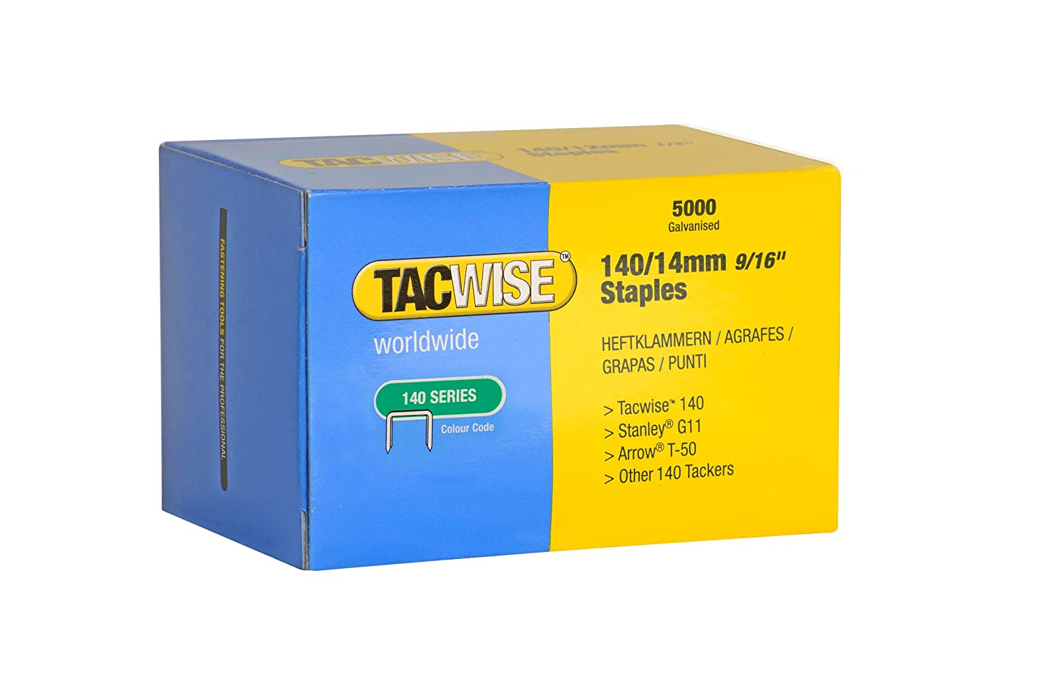 Tacwise 1217 140 Series Stainless Steel Staples, 3/8-Inch, 2000-Pack (1217)