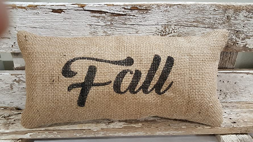 Stuffed Burlap Pillow Fall Rustic Farmhouse Holiday Decor - Check Amazon's Price