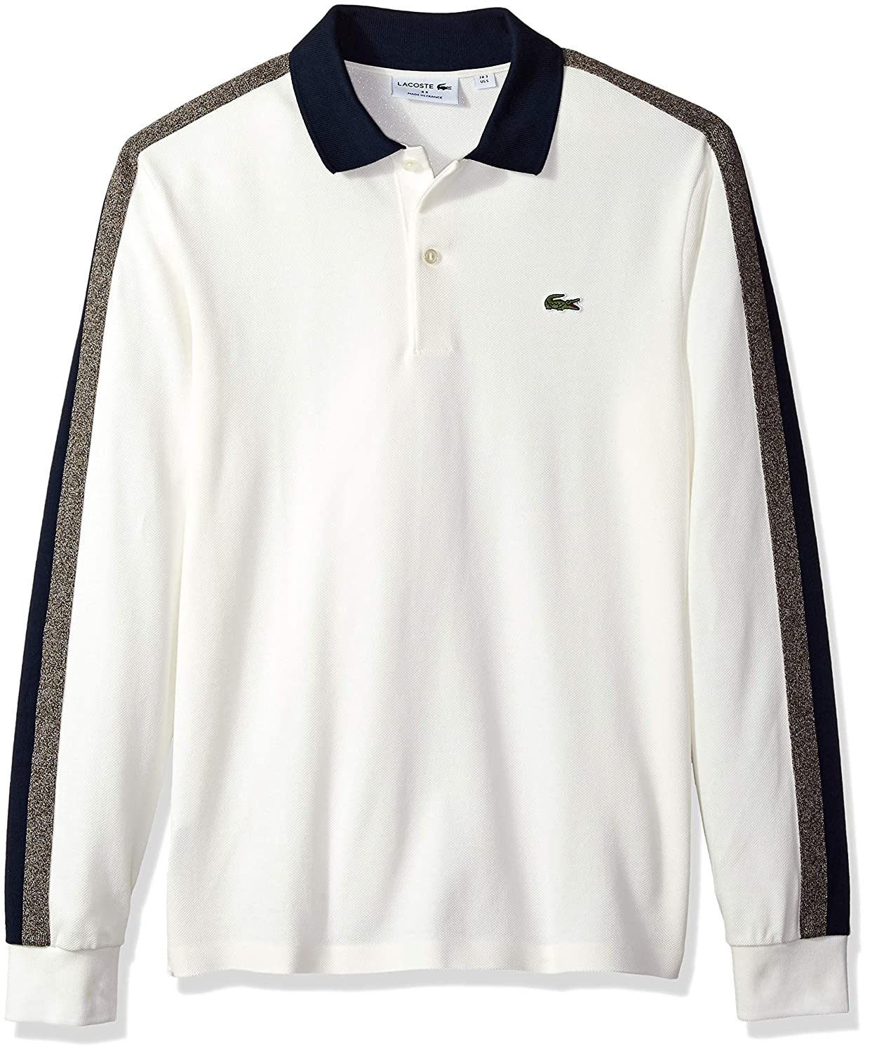 fbbd44d8d Lacoste Men s Long Sleeve Reg Fit Made in France Pique Polo at Amazon Men s  Clothing store