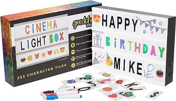Amazon.com: Cinema Light Box Marquee con 130 letras y ...