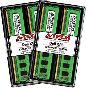 A-Tech 32GB (4 x 8GB) RAM for Dell XPS 8500, 8700 | DDR3 1600MHz PC3-12800 Non-ECC DIMM Max Memory Upgrade Kit