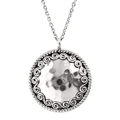 Amazon silpada circle sterling silver hammered swirl pendant silpada circle sterling silver hammered swirl pendant necklace aloadofball Images