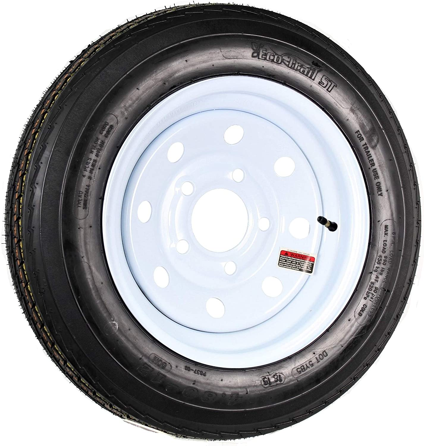Kenda Trailer Tire//Wheel Assembly 6-Ply Rated//Load Range C 5 Hole Rim 30660 by Kenda 4.80-12