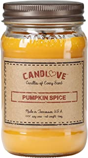 product image for Candlove Pumpkin Spice Scented 16oz Mason Jar Candle 100% Soy Made in The USA