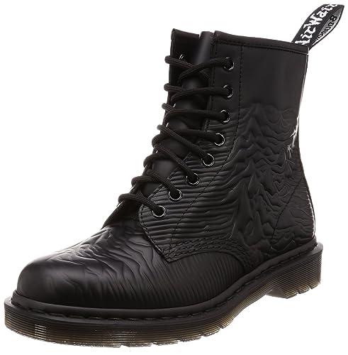 Dr Martens X Joy Division Unisex 1460 Unknown Places Leather Boot Black-Black-4