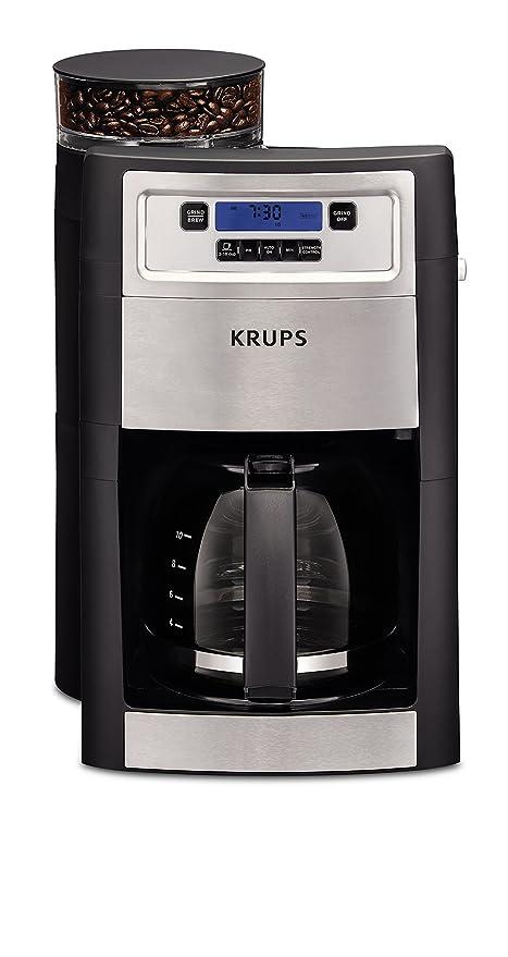 KRUPS KM785D50 Grind and Brew Coffee Maker, Black