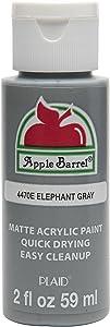 Apple Barrel Acrylic Paint in Assorted Colors (2 oz), 4470E, Elephant Gray