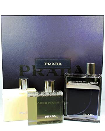 a626dcb7b3bb Image Unavailable. Image not available for. Color  Prada Amber Pour Homme  Cologne Gift Set ...