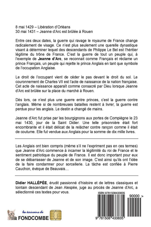 Amazon Fr Le Procès De Jeanne D Arc Et Extraits Du Procès