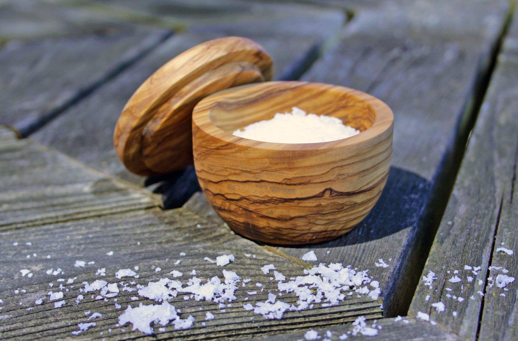 Swissmar Napoli Salt Keeper with Removable Lid, Olive Wood by Swissmar (Image #2)