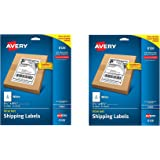 Avery Internet Shipping Labels with TrueBlock Technology for Inkjet Printers 5.5 inches x 8.5 inches, Pack of 50 (8126) tAGFDc, 2 Pack