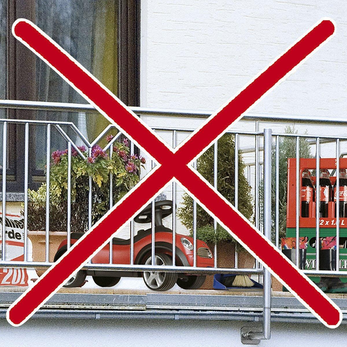 Wenko balcone della Foto della Privacy geranio
