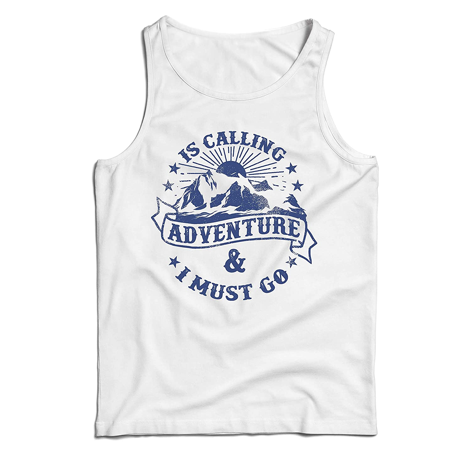 lepni.me Mens Tank Top is Calling Adventure Mountain Hiking Family Holiday Vacation Clothing