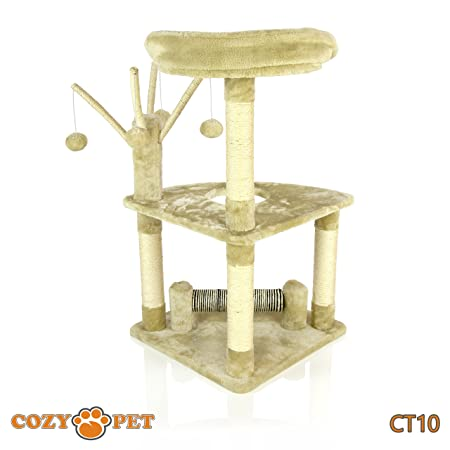 7ecc1dac8b95 Cozy Pet Deluxe Multi Level Cat Tree Scratcher Activity Centre Scratching  Post Toys with Heavy Duty Sisal in Beige CT10-Beige (Old).