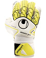 UHLSPORT - UHLSPORT ABSOLUTGRIP BIONIK+ - Gant gardien football - Paume Mousse Absolutgrip - Coupe classique - blanc/jaune fluo/noir