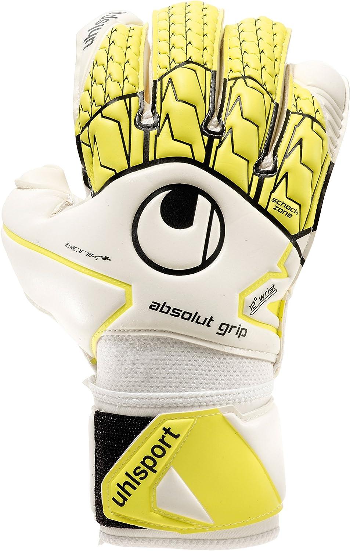 UHLSPORT ABSOLUTGRIP BIONIK+ Coupe classique blanc//jaune fluo//noir UHLSPORT Paume Mousse Absolutgrip Gant gardien football