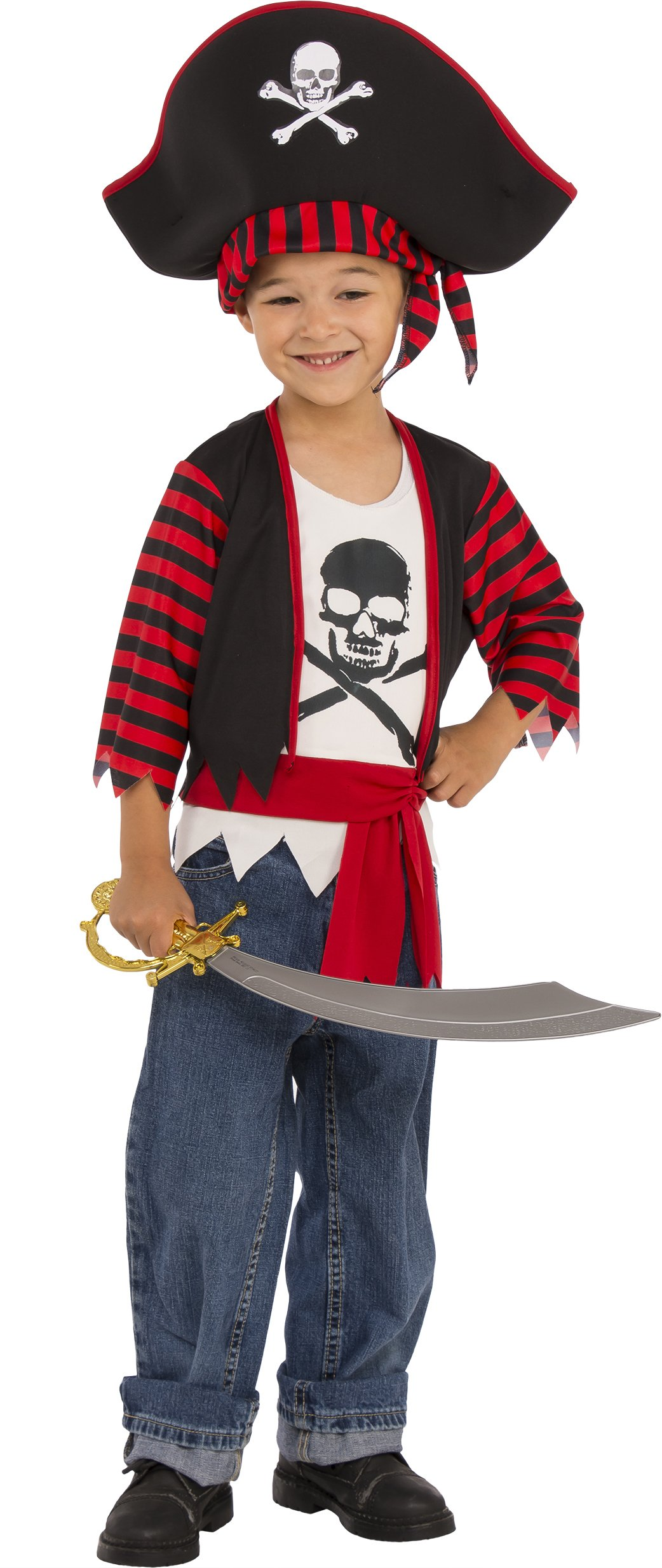 Rubies Child's Little Pirate Costume, Small, Multicolor
